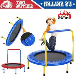 kids trampoline with safely handrail outdoor mini
