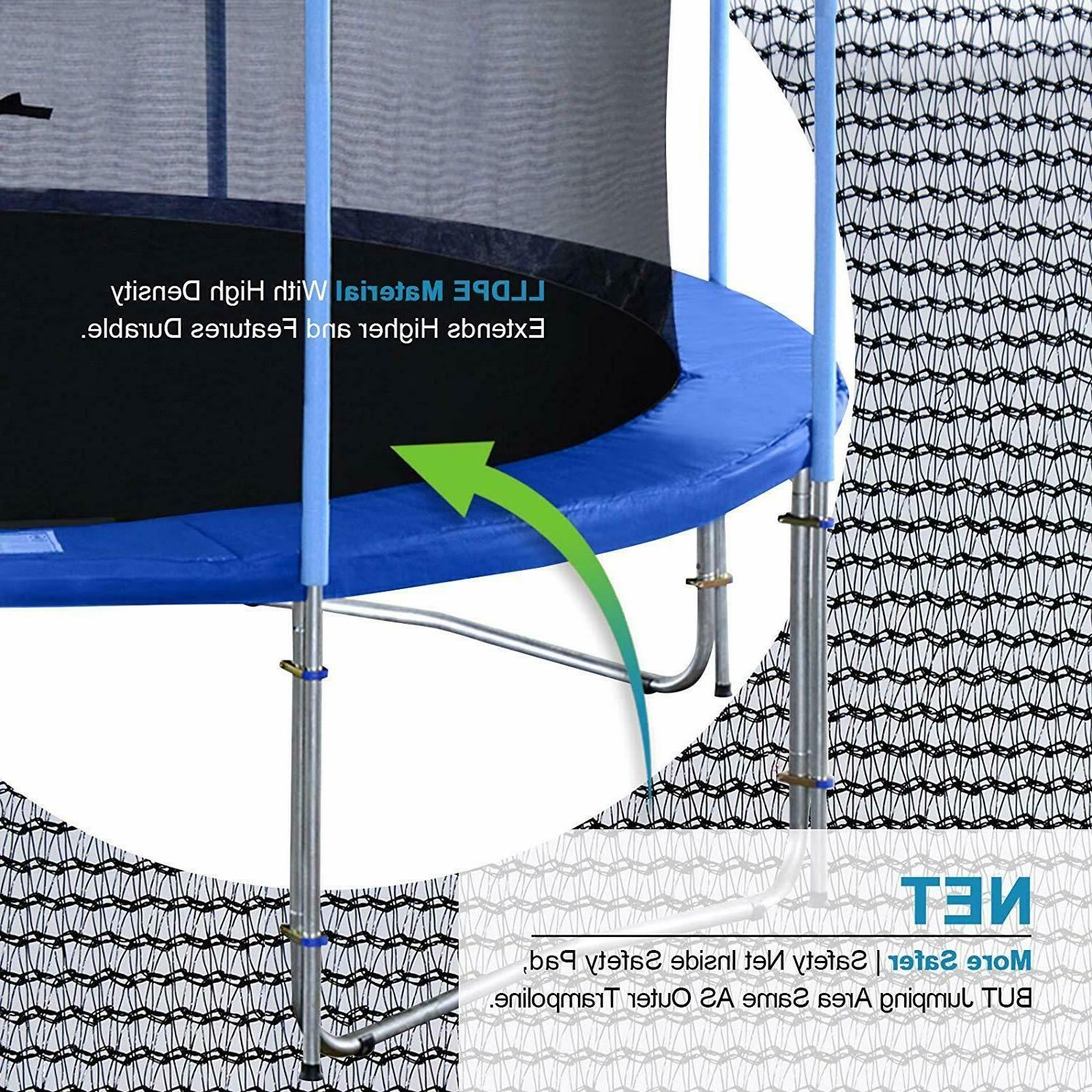 10-16FT Outdoor Trampoline with Intra Net,