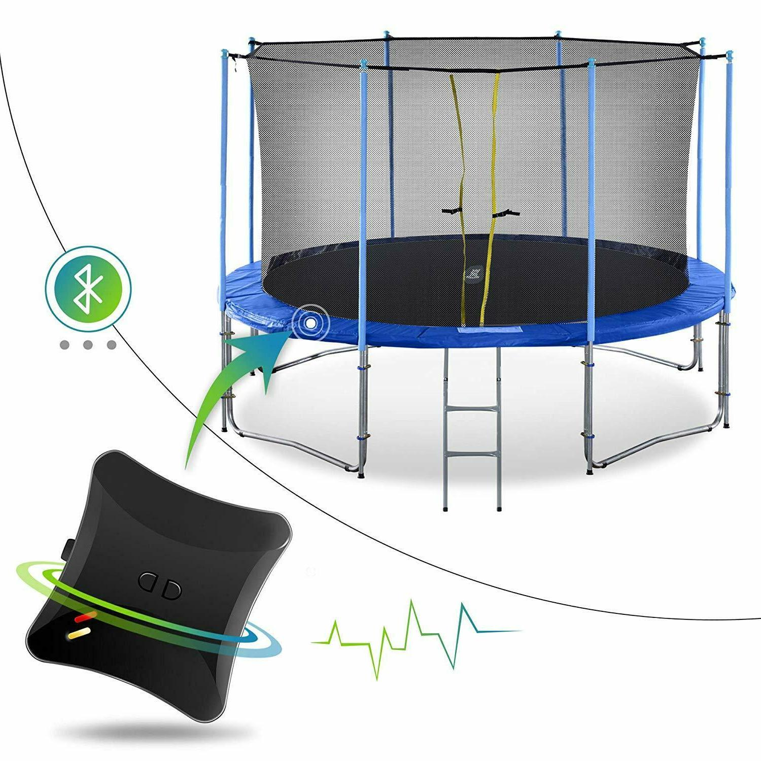 10 16ft outdoor trampoline with intra enclosure
