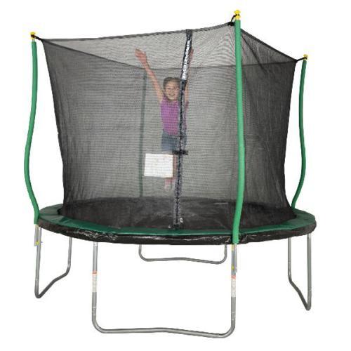 Bounce Pro 10 Trampoline, Flash Zone Safety Enclosure,Green/Black