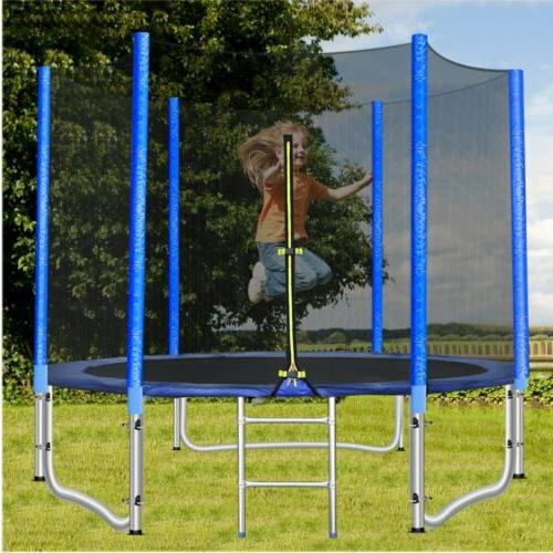 8ft round trampoline enclosure net jumping mat