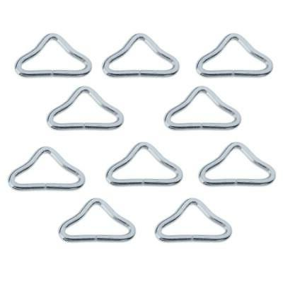 Set of 10 Triangle Rings Buckle Trampoline Mat Parts Accesso