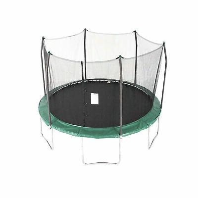12' Trampoline with Safety Enclosure Color: Green
