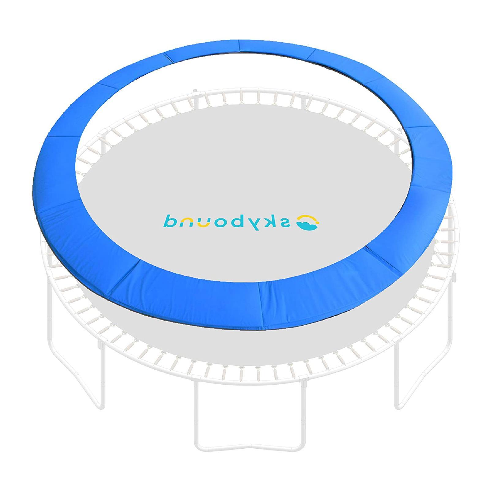 12 foot blue trampoline pad fits up