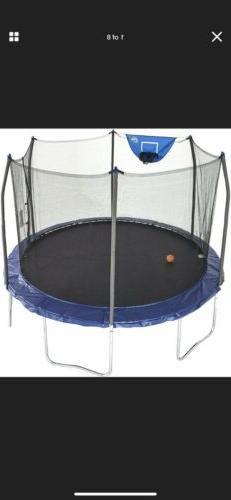 Skywalker 12 ft Jump N' Dunk Blue Enclosure Net Basketball