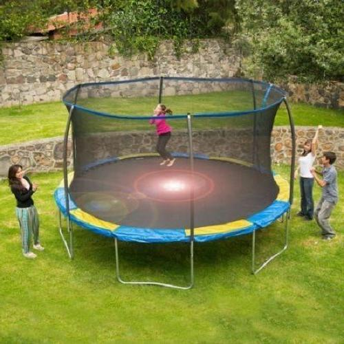 12 ft kids backyard trampoline with enclosure