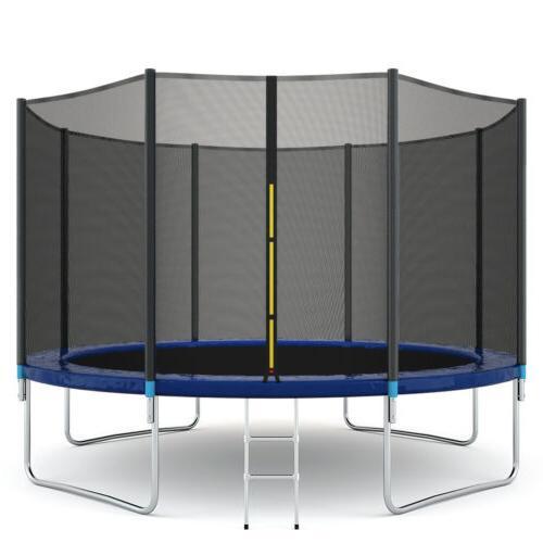 12 ft kids trampoline combo bounce jump