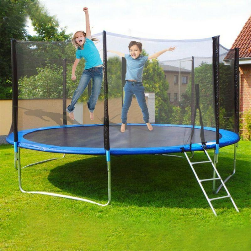 12 FT Recreational Trampolines Trampoline for Kids Trampolin