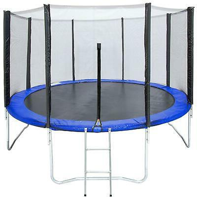 12ft round trampoline combo safety enclosure bounce