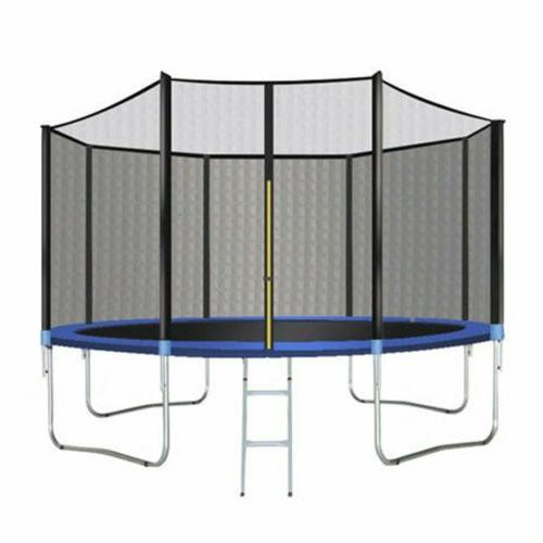 12FT Bounce Jump Enclosure W/Spring Pad Blue~
