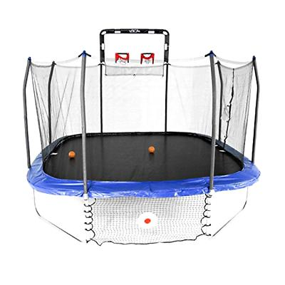 Skywalker Trampolines 14-Foot Square Trampoline with Enclosu