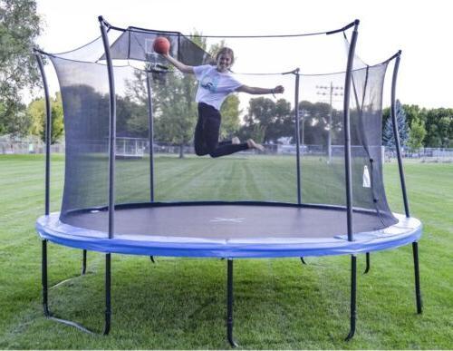 14 heavy duty pro trampolines w basketball