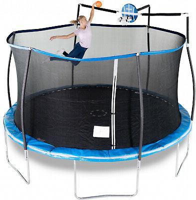 Kids Trampoline 14 ft. Blue Enclosure Net Assembly
