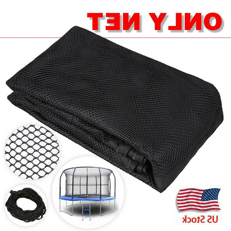 14ft 8pole outdoor replacement trampoline bounce safety
