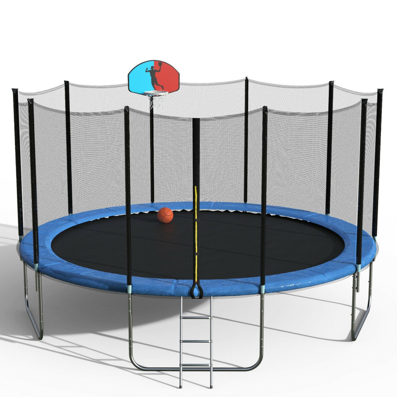 Merax 15 Trampoline with Basketball Hoop