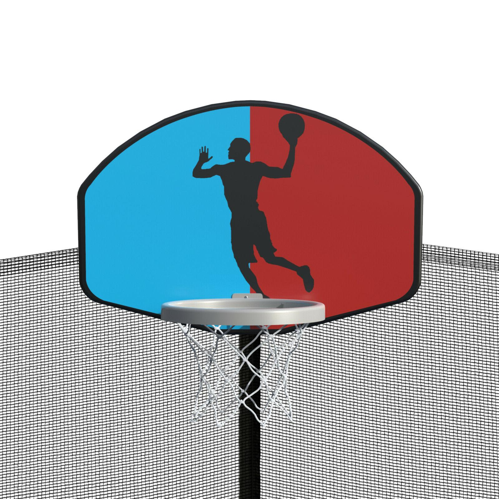 Merax 15 Foot Trampoline Basketball Hoop and