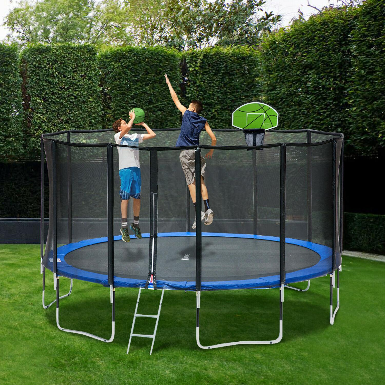 Exacme Trampoline with 400 Weight Limit& Carbon Fiber Top Pole