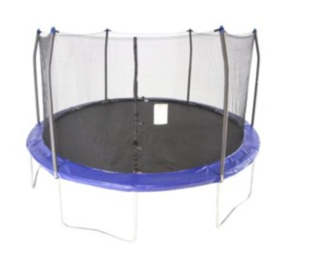 15 round trampoline and enclosure navy blue