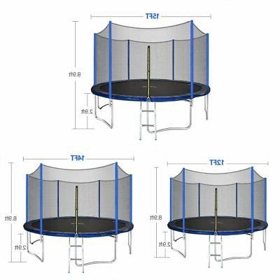 JUPA 15FT Trampoline kids, Outdoor with Enclosure