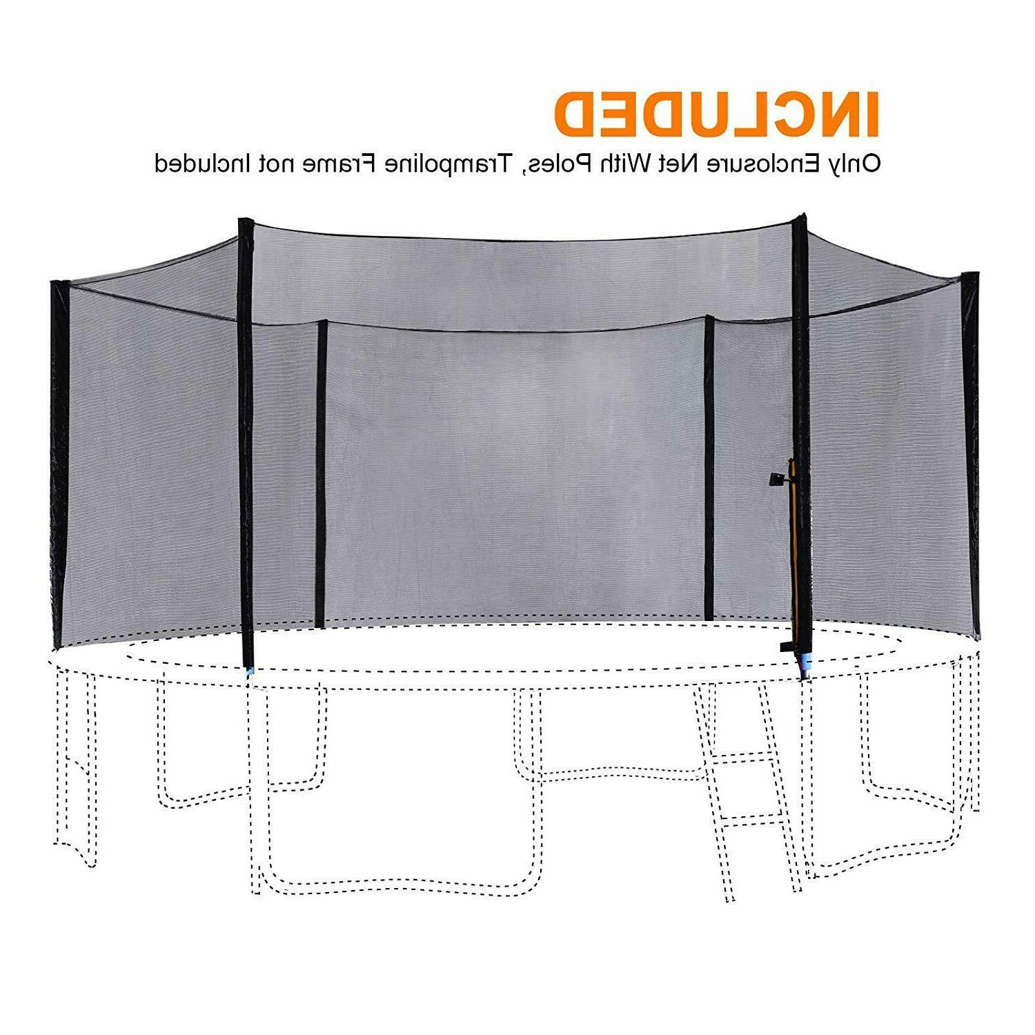 Exacme 8/10/12/13/14/15/16FT Trampoline Enclosure Safety Net