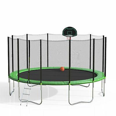 Merax Trampoline Basketball and Green