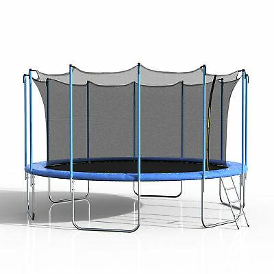 Merax 16' with Spring Enclosure, Blue