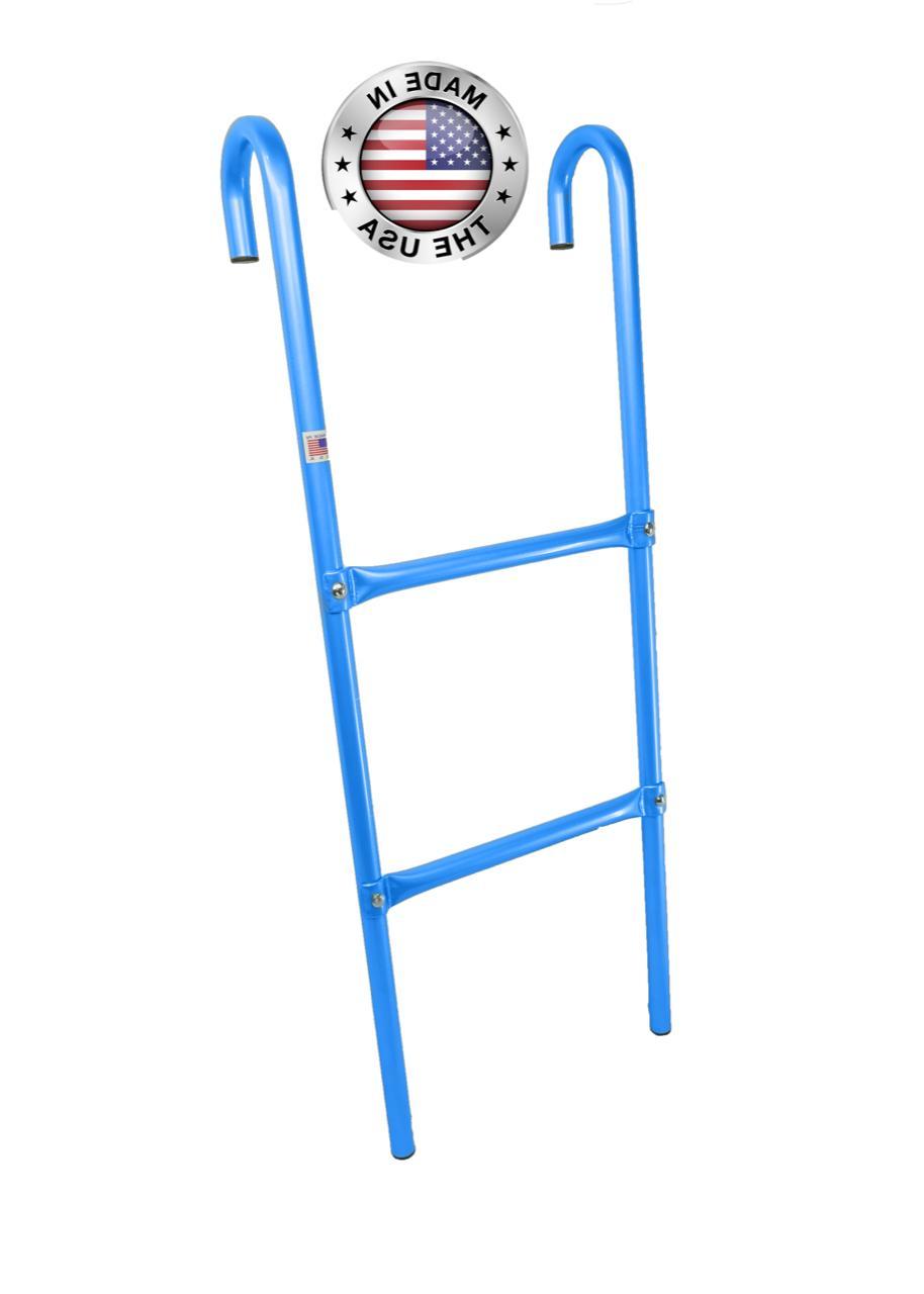 2 step all metal blue trampoline ladder