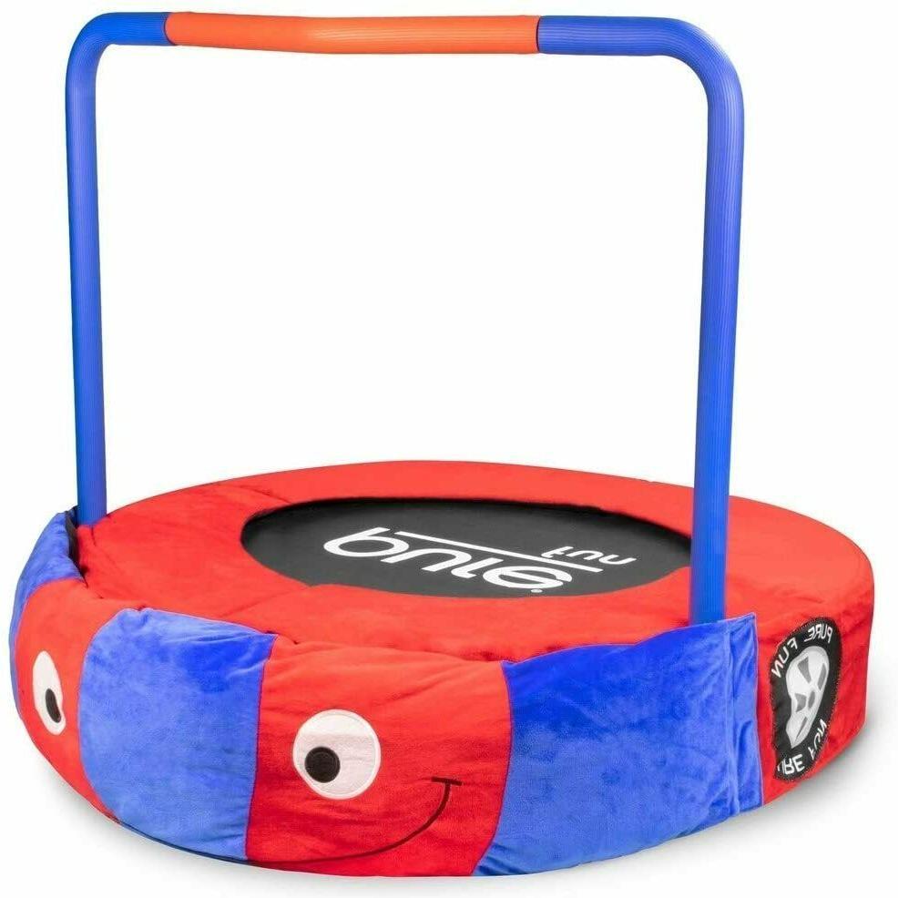 Pure Fun 36 in Plush Jumper Kids Trampoline with Handrail -