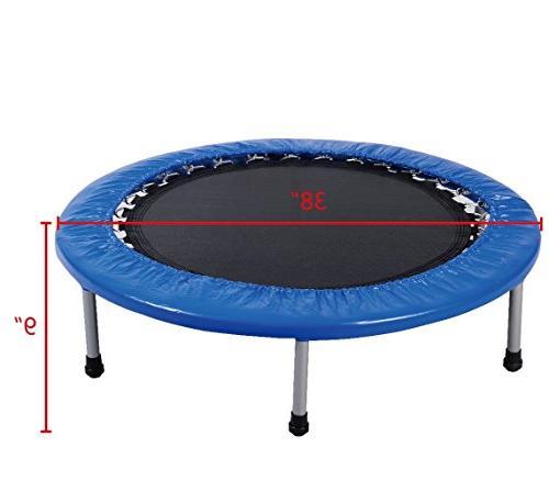Giantex 38'' Mini Trampoline Safe Workout w/ Padding Springs