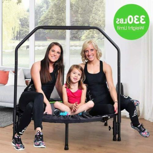 40'' Fitness Trampoline Fun Training Adult Handrail