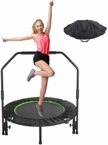 40'' Fitness Trampoline Fun Training Kid Adult w/Adjustable