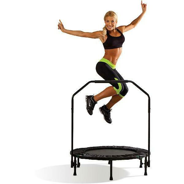 40 inch trampoline cardio trainer with handrail