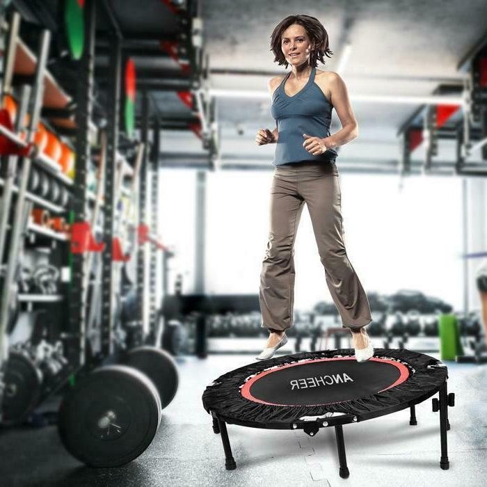 Ancheer Trampoline Fitness Workout Adjustable Handrail