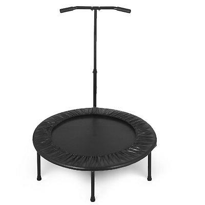 40inch Exercise Mini Trampoline w/Adjustable Handrail Kids Jump