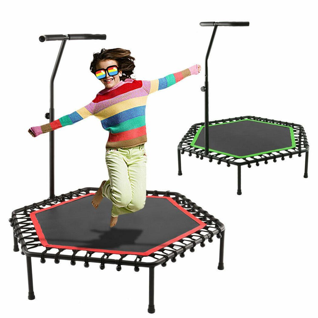 """50"""" Rebounder Mini Trampoline Exercise Bounce Fitness w/ Adj"""