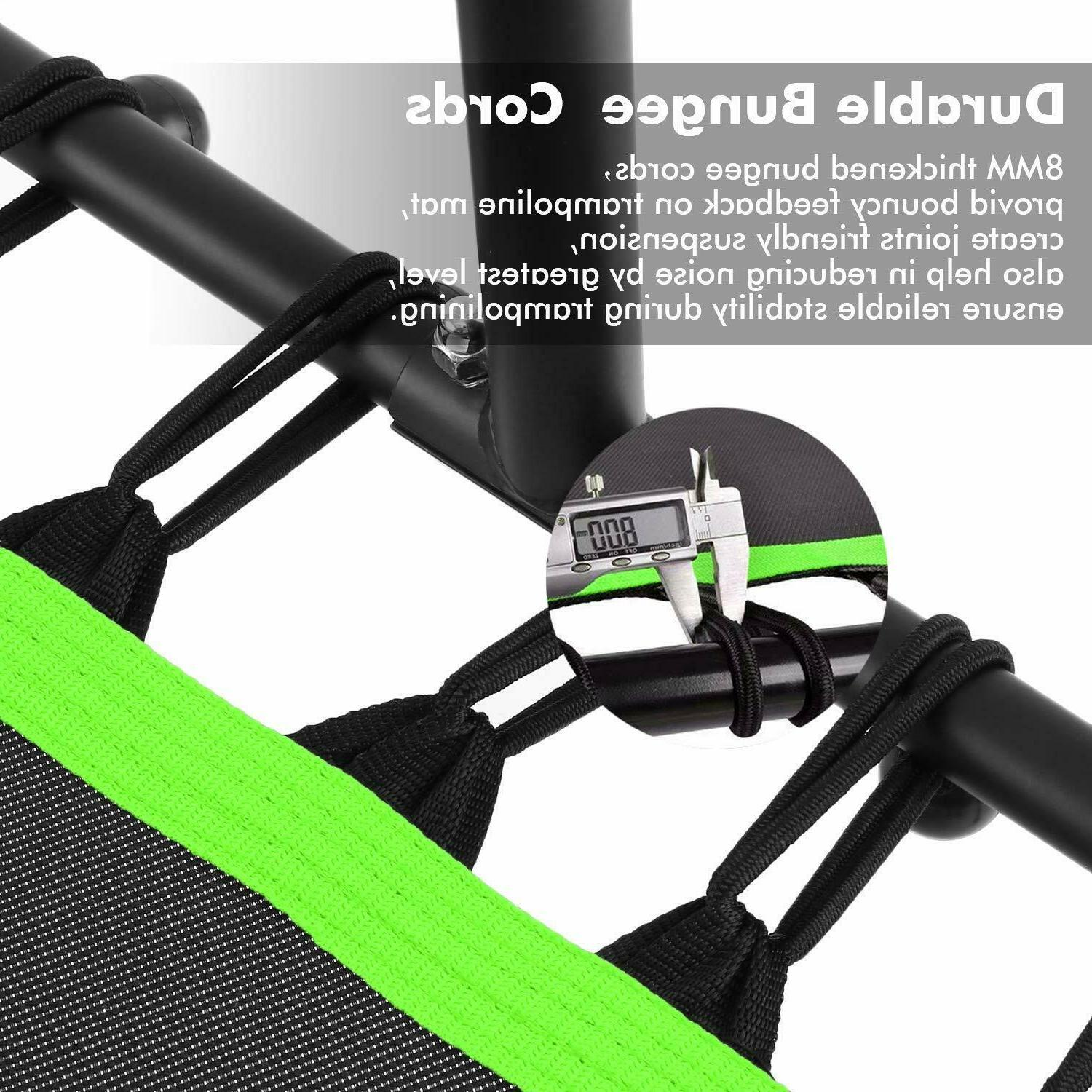 ANCHEER Trampoline Rebounder w/ Handrail & Bungee Rope System