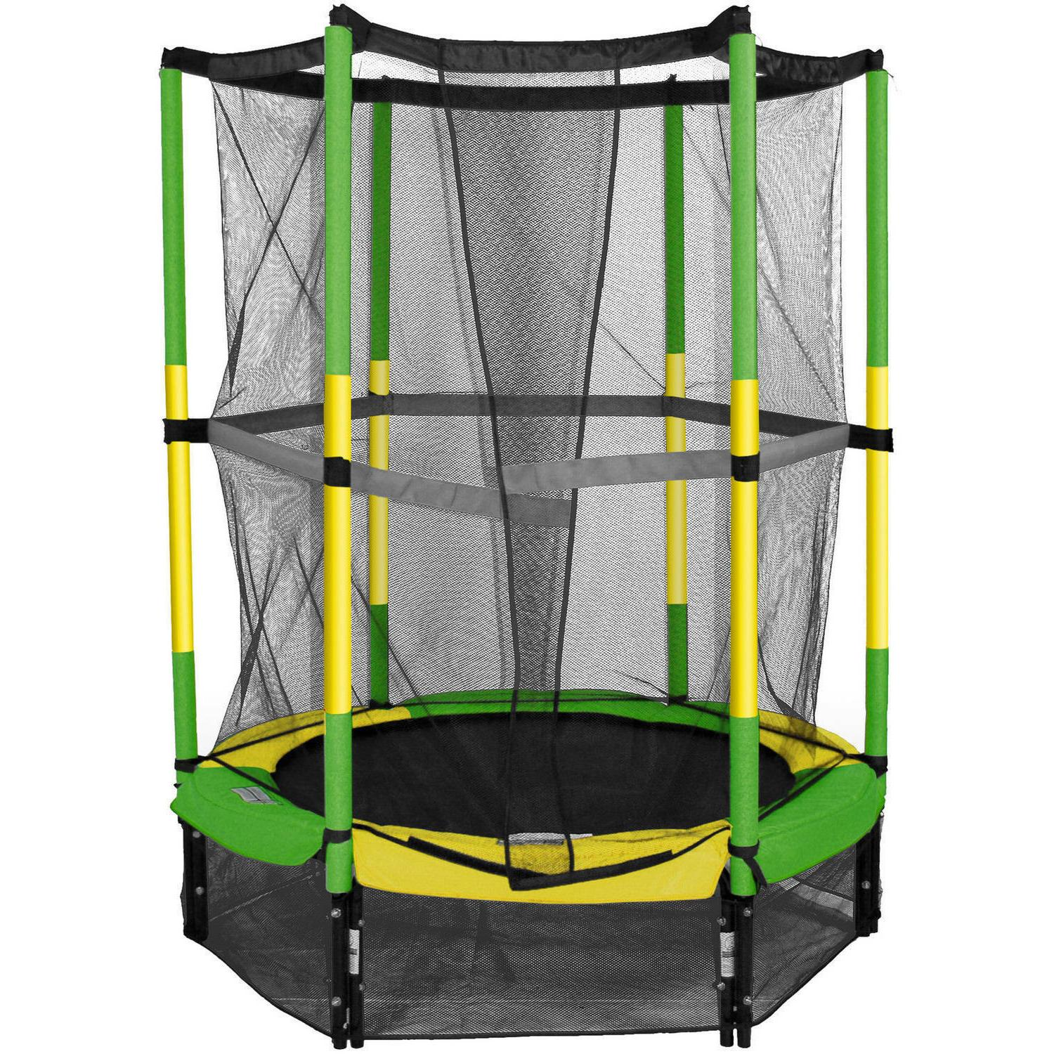 Bounce First Trampoline, with Safety Enclosure, Green