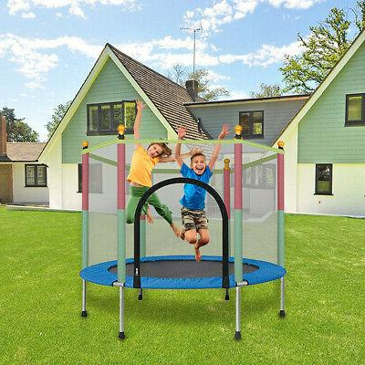 """55"""" Trampoline Jumping Safety Pad Enclosure Indoor"""