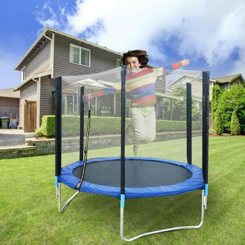 6FT Trampoline Kids Adults with Enclosure Net Indoor Outdoor
