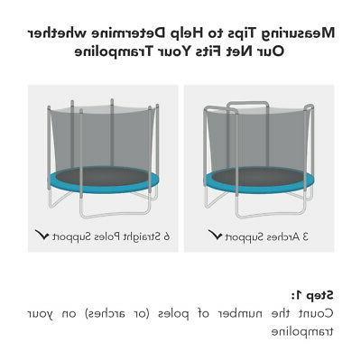 trampoline net fits 3 arch
