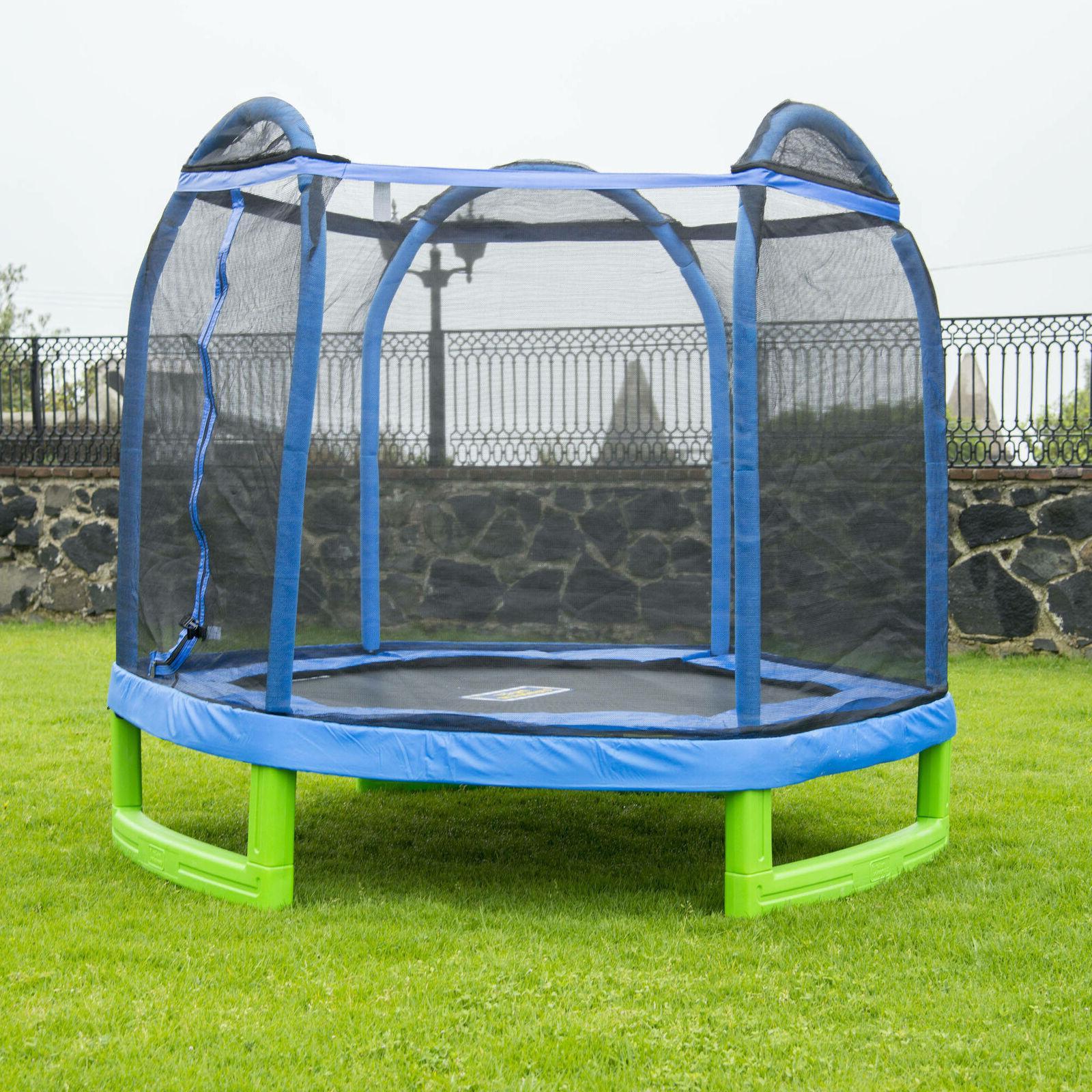 Bounce Pro 7-Foot My First Trampoline Hexagon  for Kids, Blu