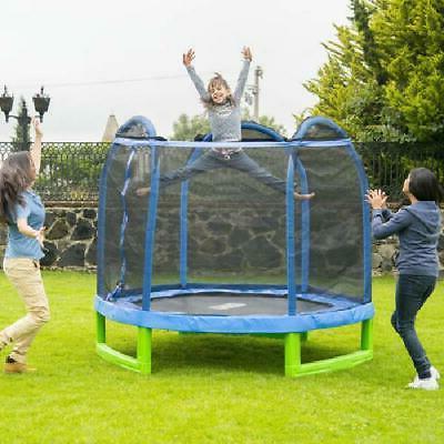 7'ft Trampoline w/ Safety Net Indoor Outdoor Bouncer Jump Ki