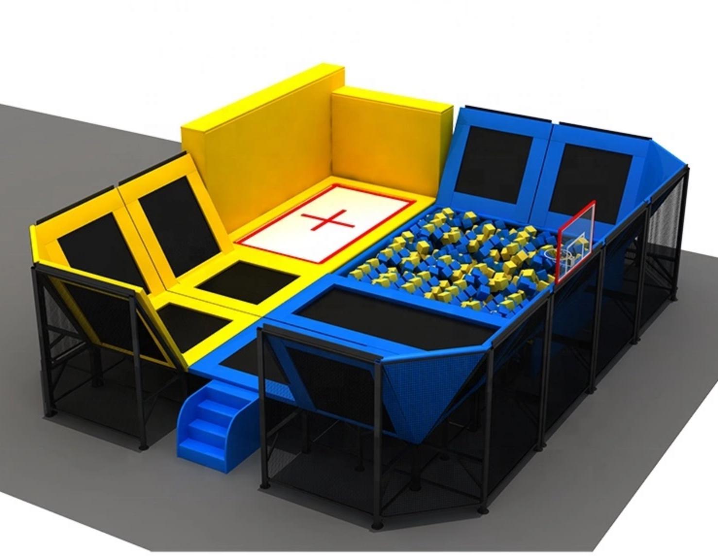 100,000 sqft Ninja Warrior Trampoline Park Foam Pit Inflatab