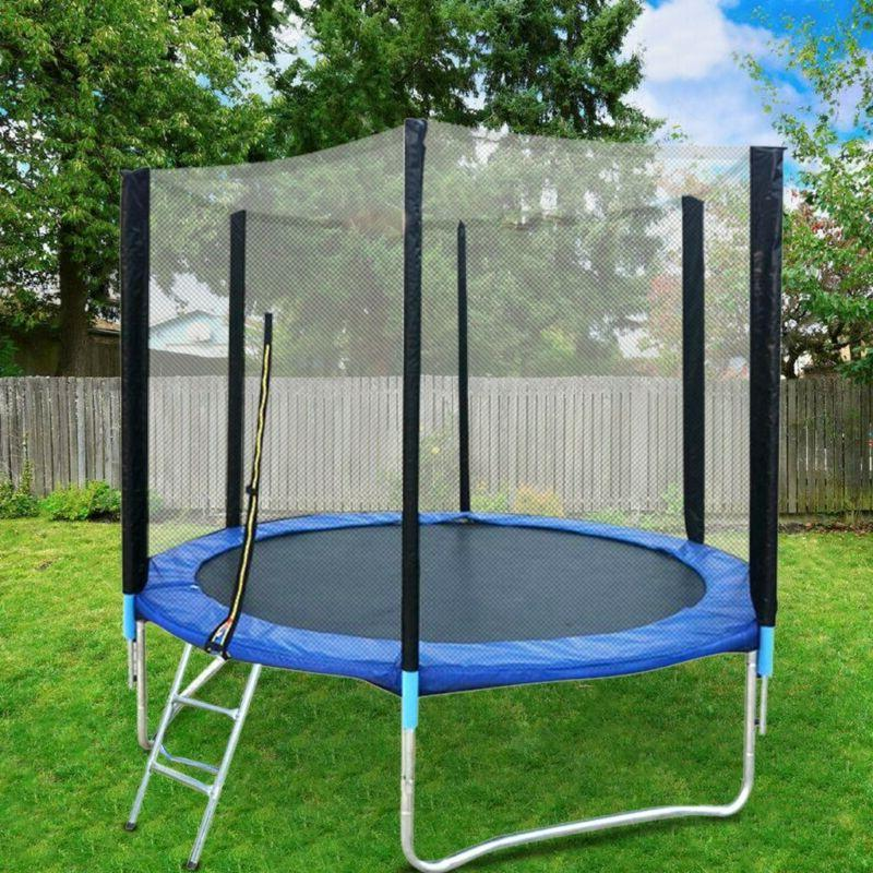 8 ft kids trampoline with enclosure net
