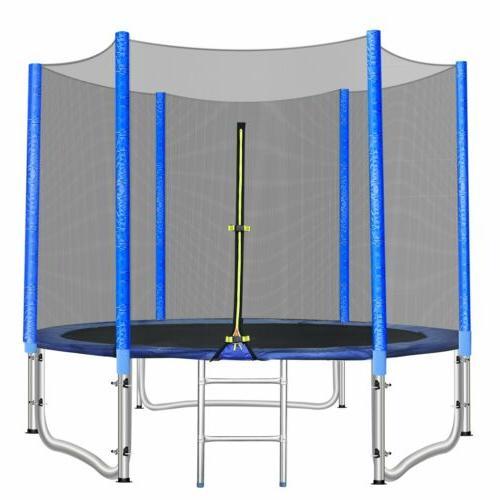8FT Round Net Jumping Mat Pad Set New