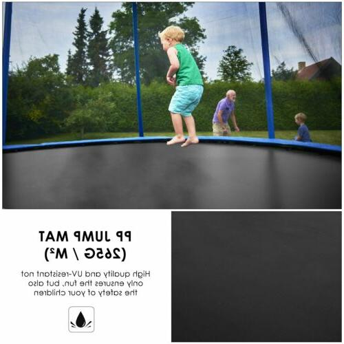8FT Round Trampoline Enclosure Net Pad Combo New