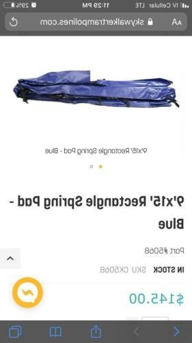 9 x 15 blue rectangle spring pad