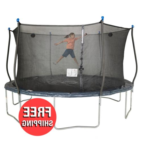 backyard trampoline kids child jump bounce play
