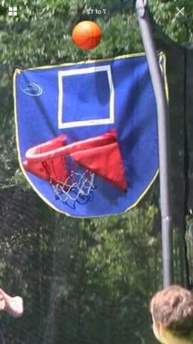 basketball hoop and ball trampoline accessory toy