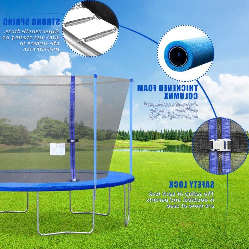 Bestmassage Net Ladder Outdoor Trampoline Pvc